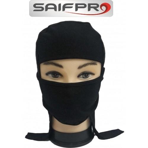 Saifpro Black Solid Cotton Scarf