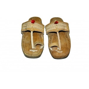 Kolapuri Center Tan Synthetic Leather Sandals