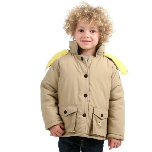 Cherry Crumble California Beige Full Sleeve Solid Boy's Jacket