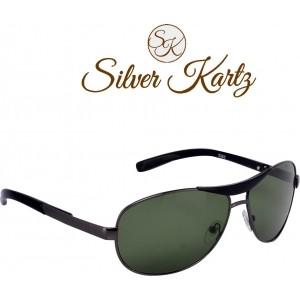Silver Kartz Luxury Green Wayfarer Sunglasses