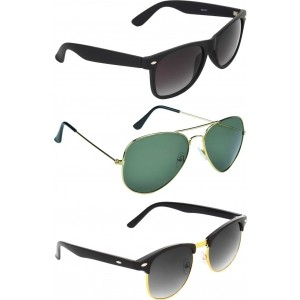 Zyaden COM240 Wayfarer, Aviator, Round Sunglasses