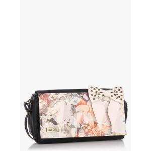 3 Mad Chicks Black Floral Printed Sling Bag