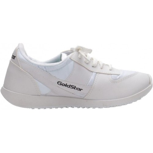 Gold Star White Synthetic Leather Shoes For Boy