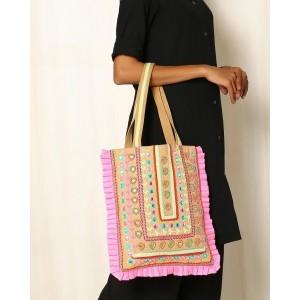 INDIE PICKS Pink Dressy Cotton Tote bag