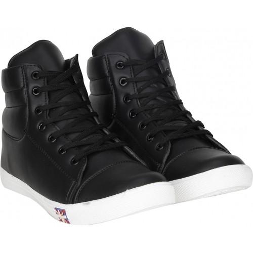 Kraasa Rocking Black Solid Dancing Sneakers