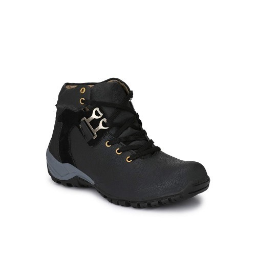 Real blue Men's Stylish Black High ankle boots