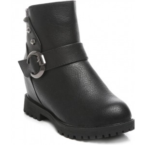 Ten Black Solid Party & Casual Boots