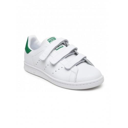 comprare adidas originali bambini unisex stan smith di cuoio bianco.