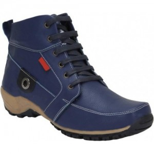 Bachini Navy Blue Synthetic Leather Boots
