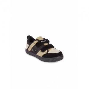 Lilliput Boys Black & Beige Colourblocked Regular Casual Shoes