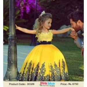 Indian Style Yellow Prom Dress For Girl