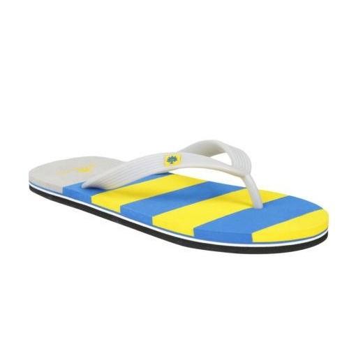 0fd6e78a1 Buy Woodland Men s Yellow   Blue Rubber Striped Flip Flop online ...