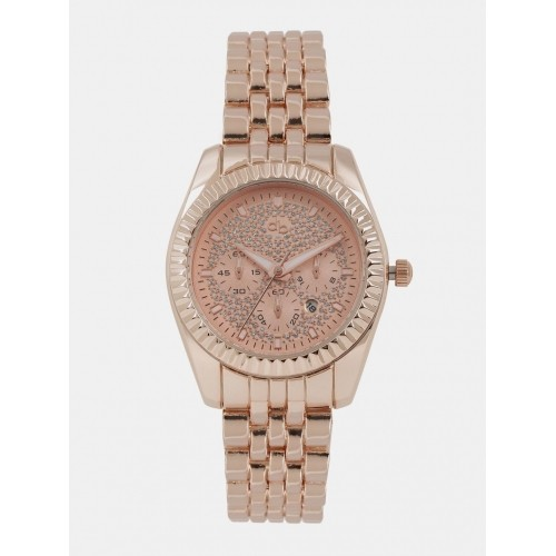 DressBerry Rose Golden Analog Watch MFB-PN-WTH-S5769-1A