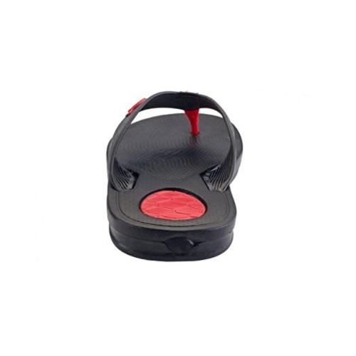 Relaxo Flite  Black & Red Men's Slippers