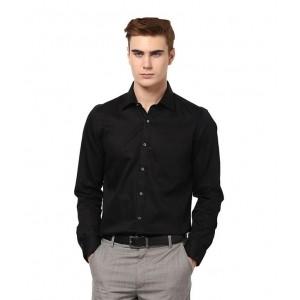 Franklineplus Black Formal Regular Fit Shirt