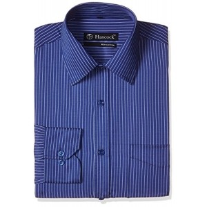 Hancock Blue Striped Printed Formal Shirt