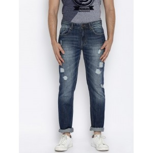 American Crew Blue Washed Straight Fit Jeans