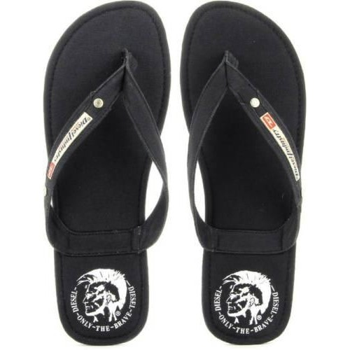 3b262f5a9 Buy Diesel Black Denim Slip-On Aqualife Seaside Flip Flops online ...