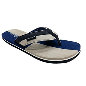 Bata Blue & Gray SyntheticSlip-On Flip Flops