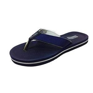BATA Blue Synthetic Slip-On Flats Flip Flops