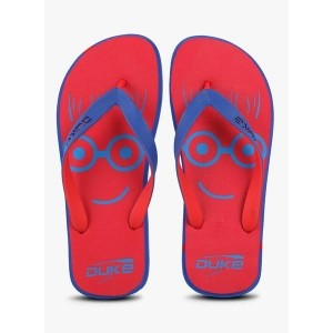Duke Red Rubber Slip-On flats Flip Flops