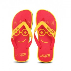 Duke Red Rubber Slip-On Flip Flops