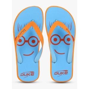 Duke Blue Rubber Slip-On Flip Flops