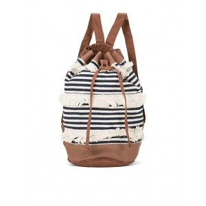 SUGR Black & White Striped Canvas Backpack
