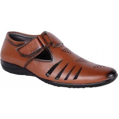 ShoeAdda Men Tan Sandals