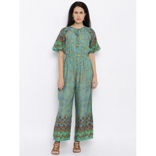 d08865cc7da5 Buy Global Desi Green Printed Viscose Jumpsuit online