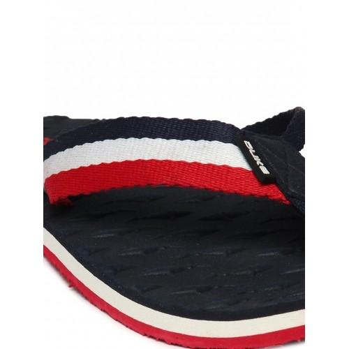 Duke Navy & Red Rubber Slip-On Flip-Flops