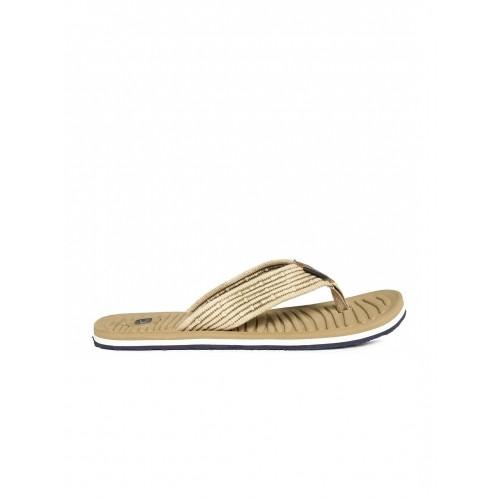 Duke Beige Rubber Slip-On Flip-Flops