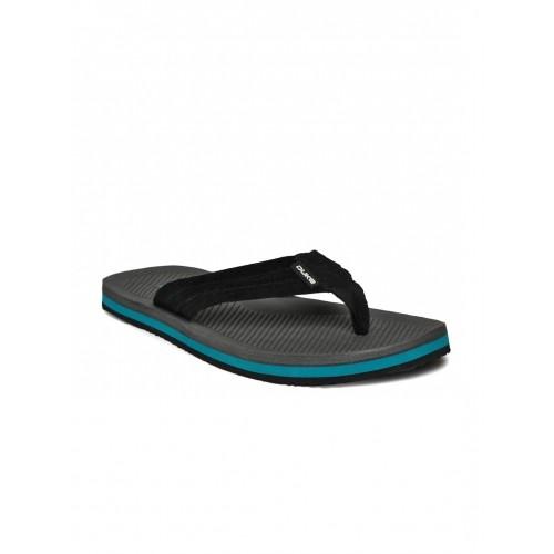 Duke Black & Grey Synthetic Sli-On Flip-Flops