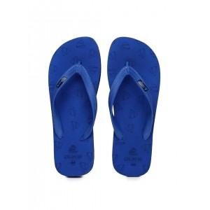 Duke Blue Rubber SlipoOn Flats Flip-Flops