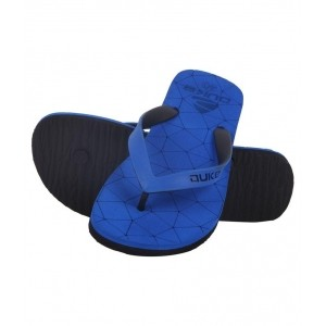 Duke Blue Rubber Slip-On Flats Thong Flip Flop