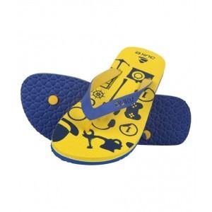 Duke Blue & Yellow Rubber Flats Slip-on Flip Flops