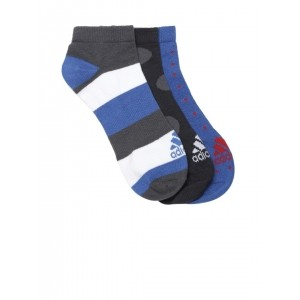 Adidas MultiColor Cotton Unisex Ankle-Length Socks
