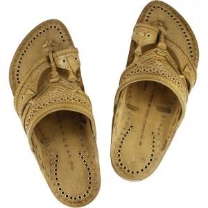 Ekolhapuri Tan Leather Sandals