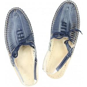 Ekolhapuri Aqua Leather Slip-On Sandals