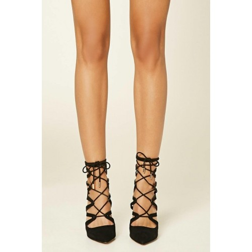 Buy Forever21 Strappy Lace Up Stilettos Gladiator Sandal online ... 2d77ffdcce5a