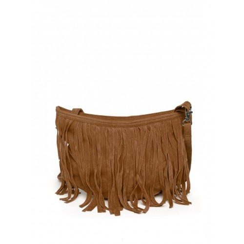 Buy POCKIT Brown Fabric Fringe Detail Sling Bag online - Looksgud.in