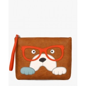 TALLY WEiJL Printed Wristlet with Zip Closure