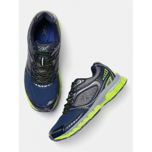 HRX by Hrithik Roshan Navy Blue Mesh Lace Up Running Shoes
