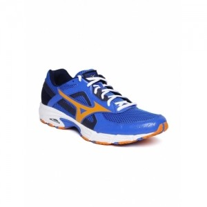 Mizuno Blue Mesh Lace Up Running Shoes