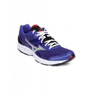 Mizuno Purple Mesh Lace Up Running Shoes