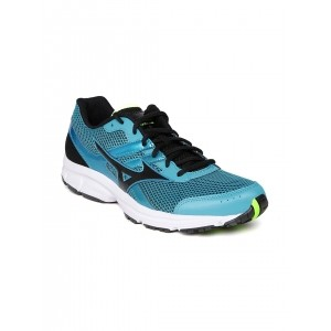 Mizuno Turquoise Blue Mesh Lace Up Running Shoes