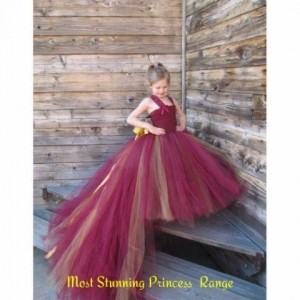Forever Kidz Maroon Gorgeous Tulle Affair With Trail