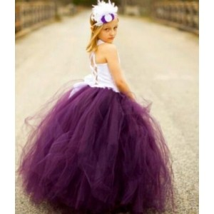 Forever Kidz Purple Plum Divine Princess Gown