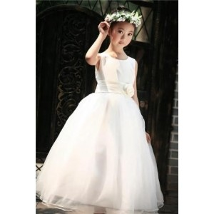 Forever Kidz Ivory White Organza Party Gown