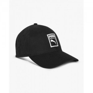 Puma Black Cotton Stretch Fit Cap